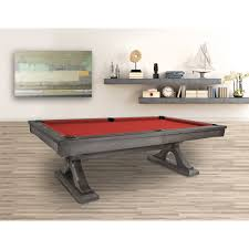 Site Table by Rustic Pool Table Oak Pool Table Grey Pool Table