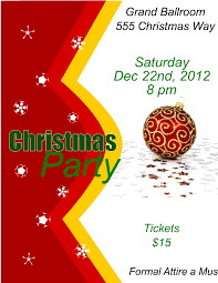 christmas party flyer template for inkscape free download edit