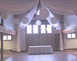 ceiling draping wedding ceiling decor looooove the large paper lanterns
