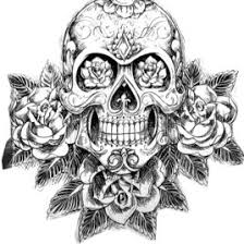 print sugar skull tatoo hard difficult coloring pages free