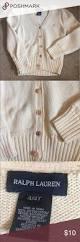 kids ivory ralph lauren cardigan w unique buttons ralph lauren