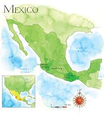 Mexico Country Map by Bribon Palmbay