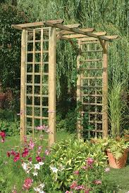 Build A Rose Trellis Classic Arch This Simple Square Garden Arch Features Trellis