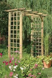 Simple Trellis Ideas Classic Arch This Simple Square Garden Arch Features Trellis