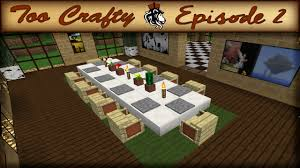 How To Make A Dining Room Table How To Make A Dining Room In Minecraft Too Crafty 2 Youtube