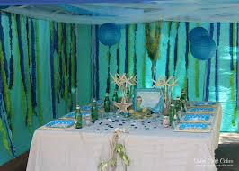 the sea party ideas the sea mermaid party birthday party ideas photo 1 of 43