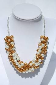 chunky necklace pearl images Chunky copper white pearl necklace diyas jewel box jpg