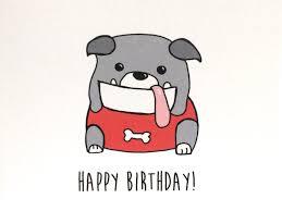 happy birthday from the bulldog by ladybugonaleaf on etsy