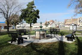 wisconsin historical markers brodhead armed forces memorial benches