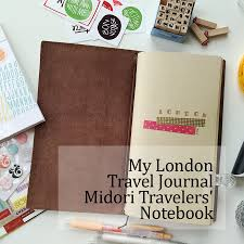 travel notebook images Simply yin midori travelers 39 notebook london travel journal jpg