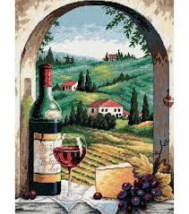 dimensions tuscan view needlepoint kit 12 x 16 joann