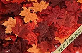 amazon 120 artificial fall maple leaves mixture