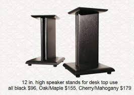 audio 12 inch desktop speaker stands