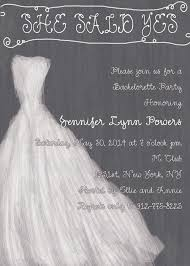 gray and white simple wedding dress invitations for bachelorette