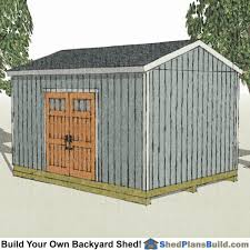 Building Backyard Shed by 12x16 Shed Plans Build A Backyard Shed