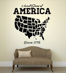 tech wall art usa map wall sticker united states of america map mural pvc wall