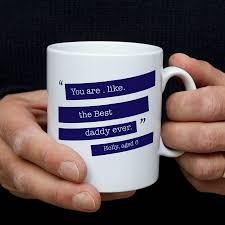 personalised quote gifts personalised quote mug for him