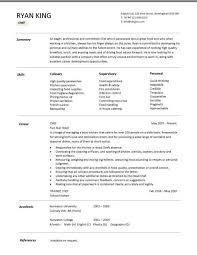 resume examples resume template chef cook sample writing cover