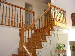Cheap Banister Ideas Way To Installing Wooden Railing For Staircase The Home Ideas