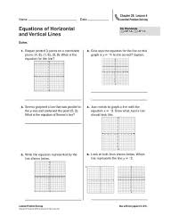 graphing horizontal and vertical lines worksheet worksheets
