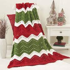 holiday ripple crochet afghan pattern crochet pinterest