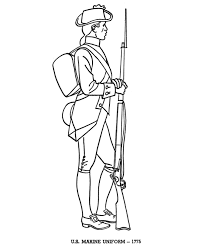 revolutionary war coloring pages soldier templates america army