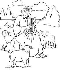 Shepherd Boy Clipart Samuel Pencil And In Color Shepherd Boy Samuel Coloring Pages