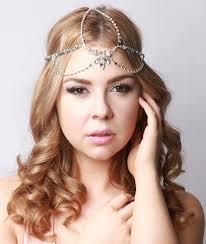 headpiece jewelry bohemian bridal headpiece silver gatsby 1920s style hair jewelry