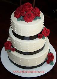 red black and white wedding cake this cake was for a love u2026 flickr