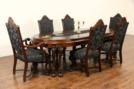 sold renaissance 1925 antique dining set table u0026 3 leaves 6
