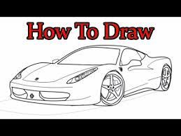 coloring fabulous draw ferrari jcd car drawing