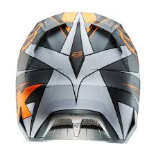 fox motocross uk 2014 fox v4 race helmet lid in grey orange motocross mx moto x off