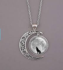 wolf necklace images Wolf necklace wolf jewelry wolf pendant dark clouds jpg