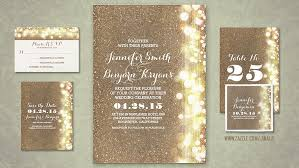 wedding invitations glitter read more dreamy wedding invitation with string of lights