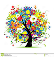 floral tree beautiful stock vector image of insect leaf 15065101
