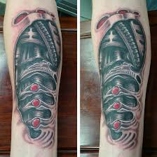 3d black and grey biomechanical tattoo design ideas kmxwtattoo
