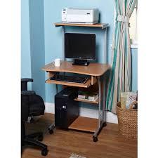Desktop Computer Desk Mobile Computer Tower With Shelf Multiple Finishes Walmart Com