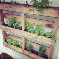 Pallet Garden Decor Jardín Vertical Hecho Con Un Palet Reciclado Out Doors