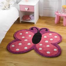 Rugs For Girls Bedrooms Think Pink For Your Little U0027s Room With This Butterfly Shaped