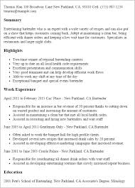 professional summary resume bartender resume summary best resume collection