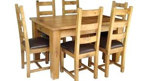 Solid Oak Dining Table And 6 Chairs Extending Dining Table 6 Chairs Solid Oak Extendable Dining Table