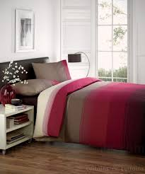 studio red brown chocolate striped duvet quilt cover bedding uk
