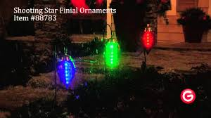 led shooting star lights gemmy lightshow shooting star 88783 finial ornaments youtube