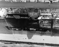 John F Kennedy Jr Plane Crash File Uss Jfk Damaged Deck After Collision With Uss Belknap Jpeg
