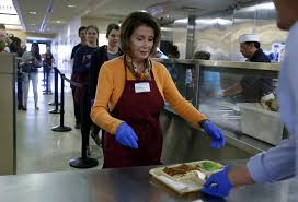 volunteer thanksgiving san francisco pelosi steers clear of politics mostly at st anthony u0027s shift