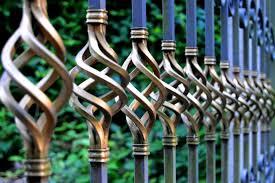 cast iron deck railing panels decorative metal staircase home