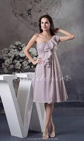 a linie herzausschnitt knielang chiffon brautjungfernkleid mit gestupft p551 bridesire grau brautjungfernkleider grau