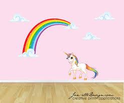 reusable rainbow wall decal childrens fabric wall decal rainbow rainbow unicorn wall decal unicorn wall sticker rainbow wall