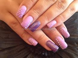 eye candy nails u0026 training acrylic nails with purple polish and