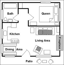 floor plans for cottages one bedroom cottage plan home design ideas
